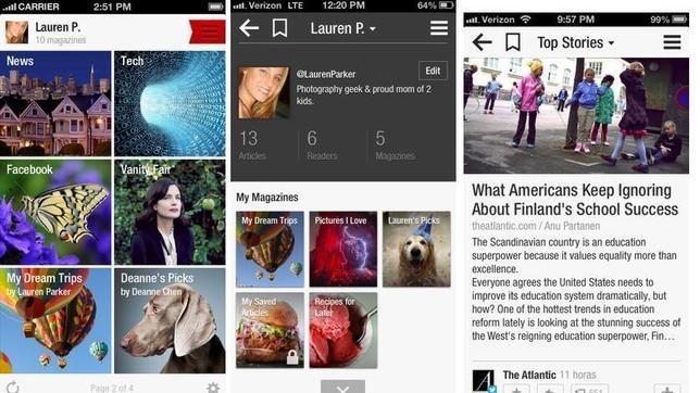 Flipboard se actualiza para iOS