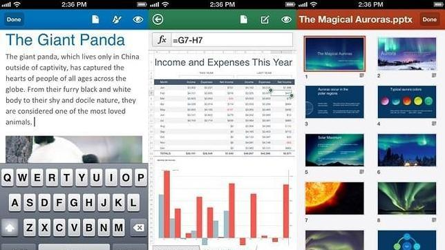 Microsoft lanza la «app» Office Mobile en iOS