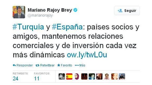 El viaje de Rajoy a Turquía, Iberia y el temporal, entre los tuits destacados