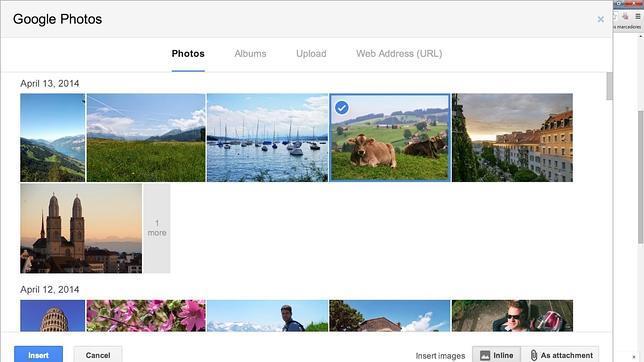 Google añade una opción en Gmail para adjuntar fotos tomadas desde el «smartphone»