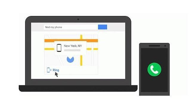 Google activa un servicio para localizar el «smartphone» desde el ordenador