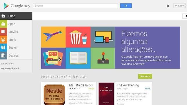 Google Play se renueva por completo en la web