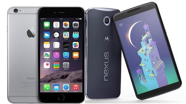 Guerra de gigantes: el Nexus 6 frente al iPhone 6 Plus