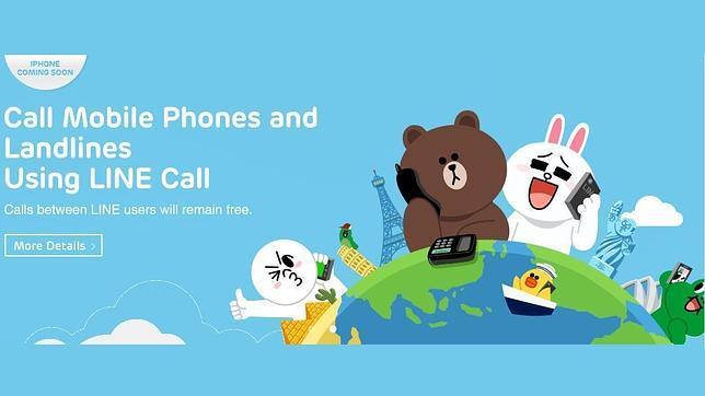 LINE se acerca a Skype y permite llamar a líneas fijas y a móviles