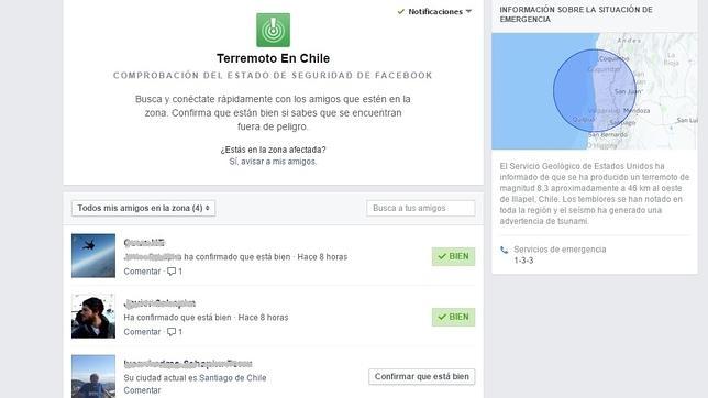 Facebook confirma que sus usuarios en Chile están a salvo después del terremoto