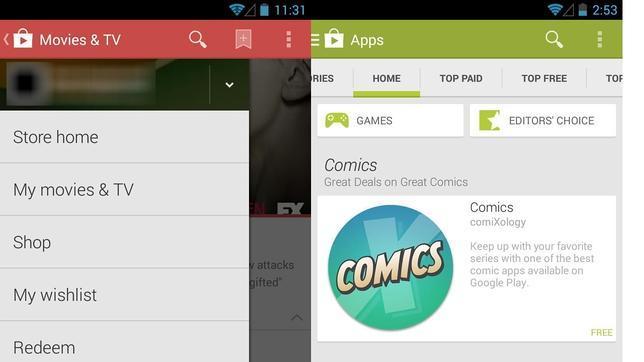 Se filtran las primeras imágenes de la nueva versión de Google Play