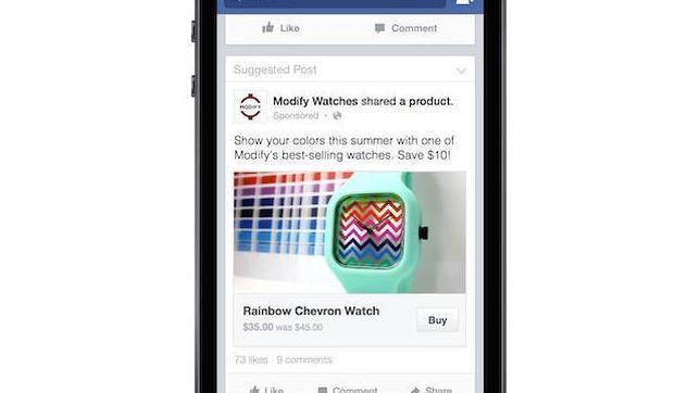 Facebook quiere que hagas compras online sin salir de su Red