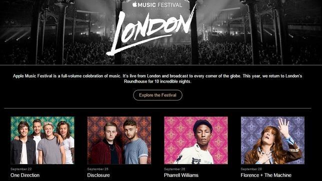 Apple Music Festival, el gran despliegue de Apple para los amantes de la música