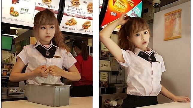 La camarera más atractiva del mundo está en Taiwán y se parece a la protagonista de un cómic