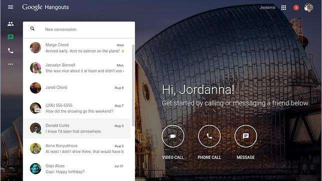 Google crea un sitio web para su servicio de chat Hangouts