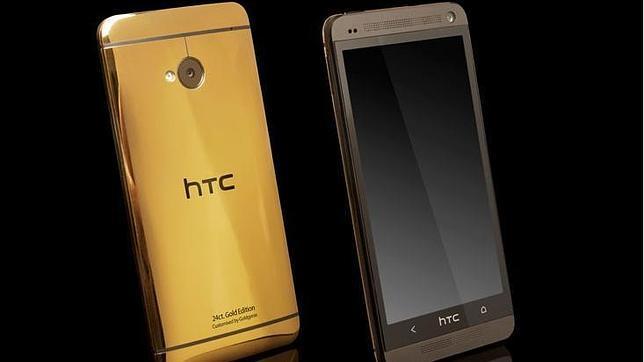 Un HTC One bañado en oro de 24 quilates por 2.300 euros