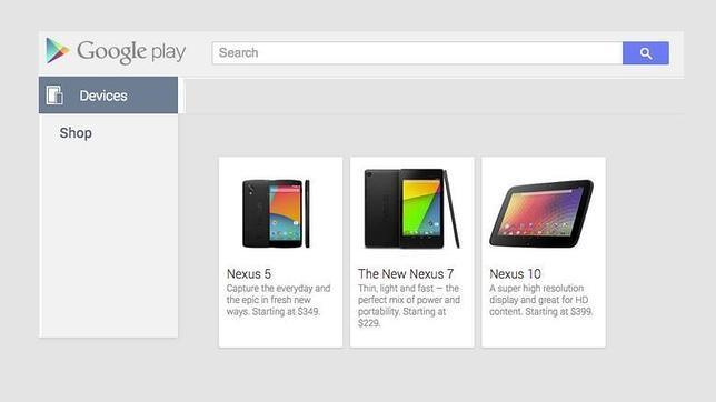 El Nexus 5 «aparece» en la Google Play por 349 dólares