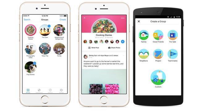 Facebook lanza una aplicación separada para gestionar los grupos
