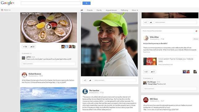 Google+ cambia de piel