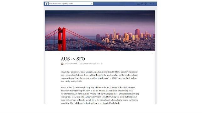 Facebook Notas se rediseña para ser una plataforma de blogs