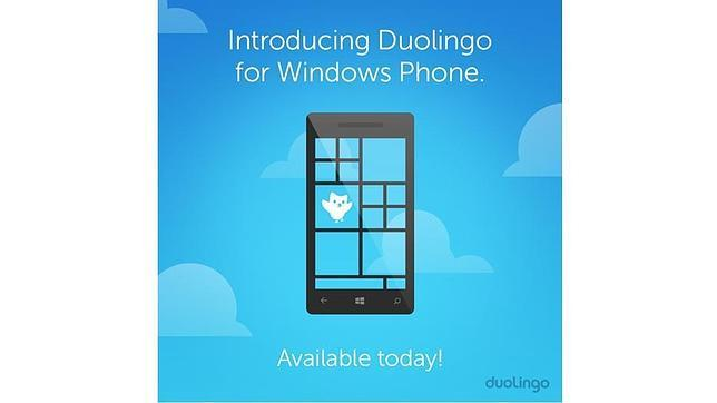 Duolingo desembarca en Windows Phone