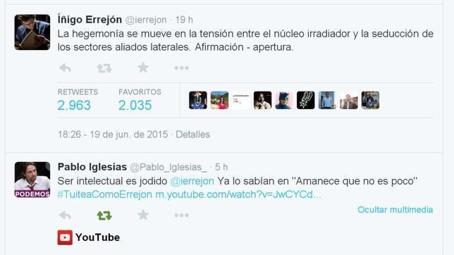 Un comentario de Errejón desata chistes y mofas en Twitter