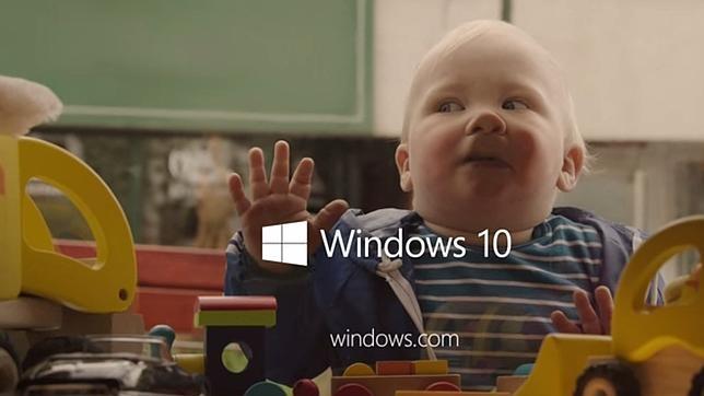 Microsoft apuesta por los recién nacidos en su publicidad de Windows 10