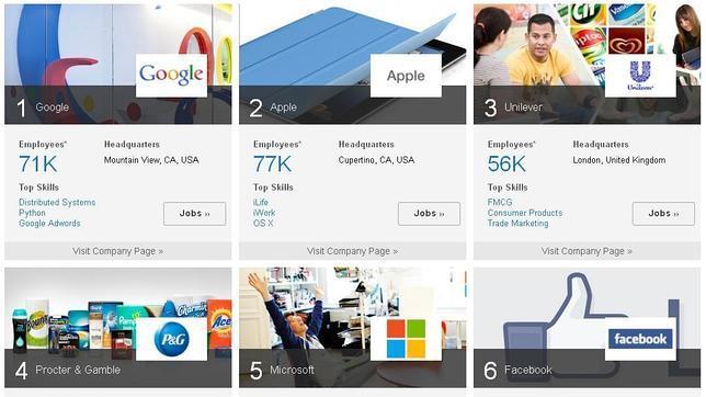 Google y Apple, las empresas que reciben más solicitudes de empleo