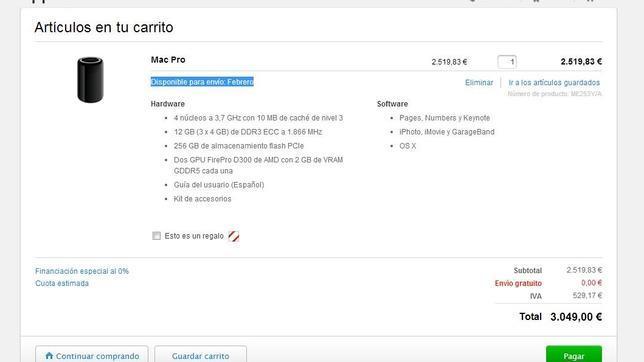 El nuevo Mac Pro cilíndrico, agotado a las pocas horas de ponerse a la venta