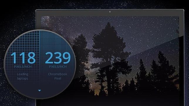 Google presenta su portátil de alta gama con pantalla táctil: así es el Chromebook Pixel