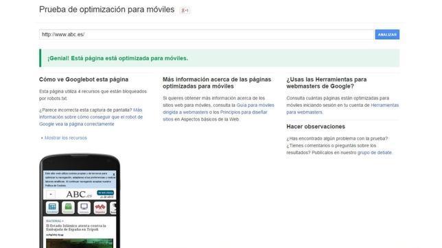 Cómo saber si nuestra página está optimizada para «smartphones»