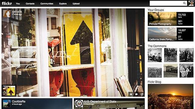 Flickr se rediseña y amplía a un terabyte el almacenamiento