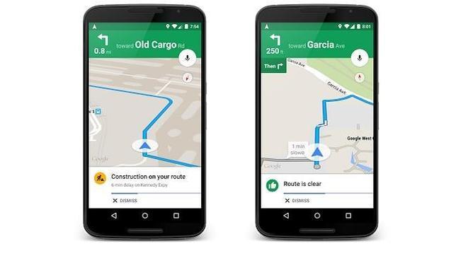 Google Maps mejorará las alertas de tráfico y las sugerencias de rutas