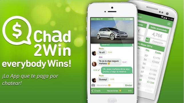 Chad2Win, la «app» que te paga por chatear, llega a Reino Unido con nuevo nombre