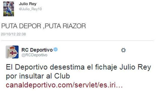 El joven que no ha fichado por el Deportivo de La Coruña por un tuit ofensivo