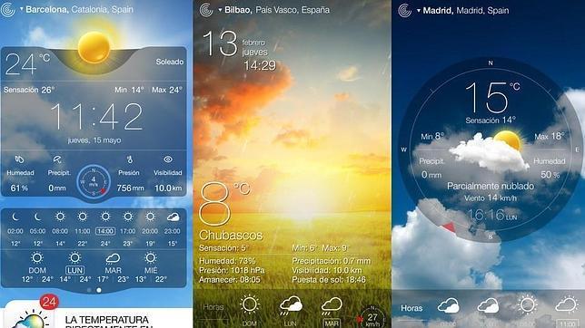 Las mejores aplicaciones móviles para consultar el tiempo