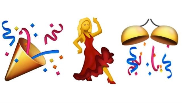 Los «emojis» de fiesta, los más utilizados por los españoles