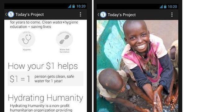 Google lanza One Today, una «app» para recoger donaciones benéficas