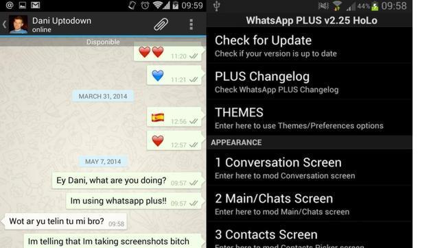 WhastApp Plus: cuando la aplicación no oficial rivaliza con la original