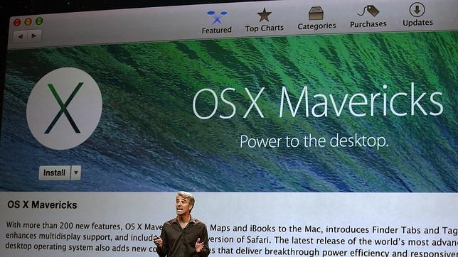 La descarga de Mavericks está disponible en la Mac App Store de forma gratuita