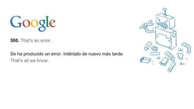 Caída mundial de importantes servicios de Google como Hangouts, Drive y Google+