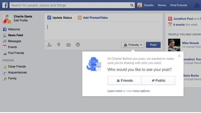 Nuevo cambio en Facebook: ya no permite compartir públicamente por defecto