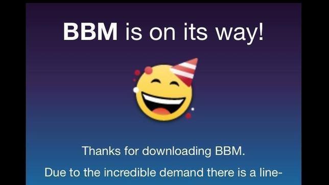 Blackberry Messenger alcanza las 10 millones de descargas en 24 horas