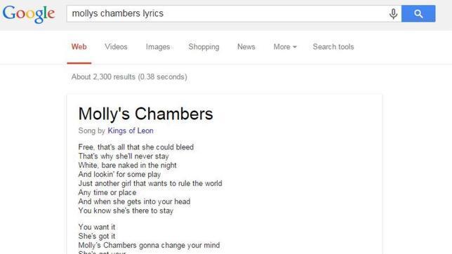 Google quiere que aprendas las letras de las canciones