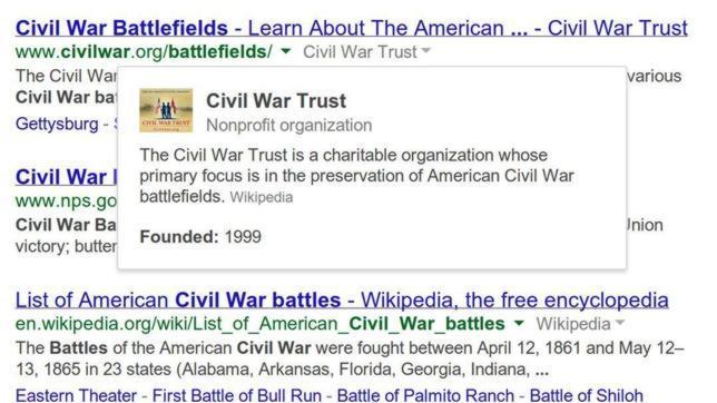 Google ofrece más información en sus búsquedas