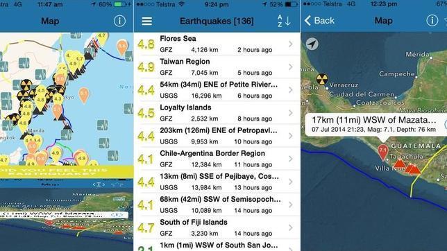 Las mejores aplicaciones para informarse en caso de vivir un terremoto