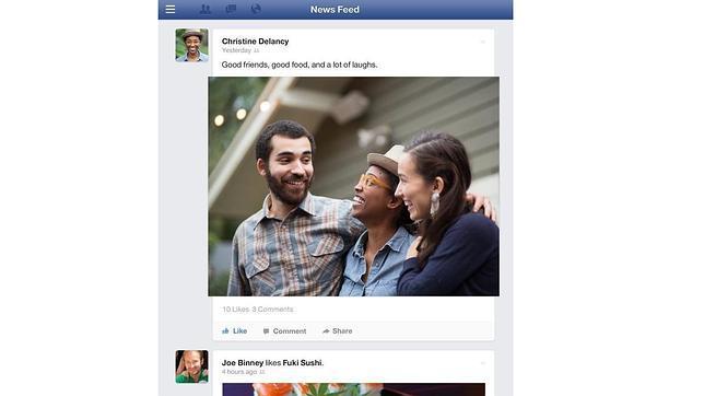 Facebook se renueva primero en el móvil