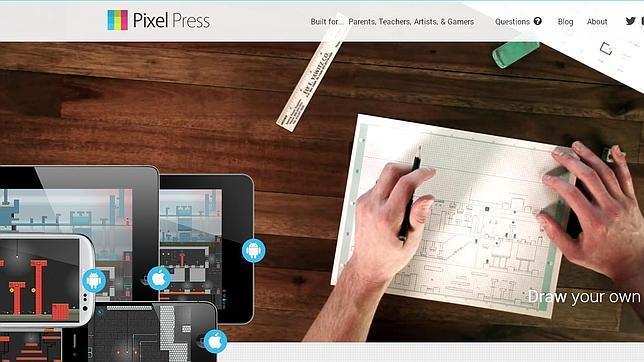 Dibuja un videojuego de plataformas sobre papel y juega en móviles o tabletas