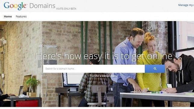 Google prueba su servicio de registro de dominios