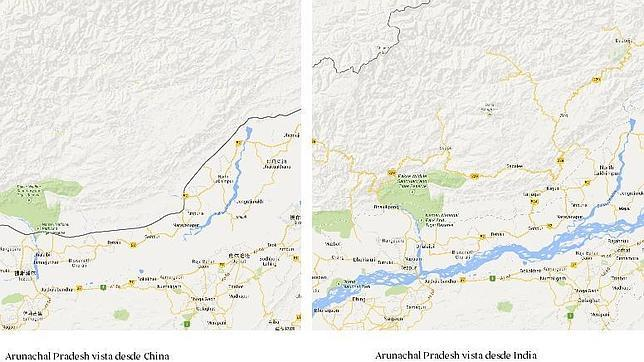 Google Maps cambia las fronteras según el país en el que esté el usuario