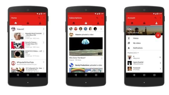 Youtube cambia su aplicación de móviles
