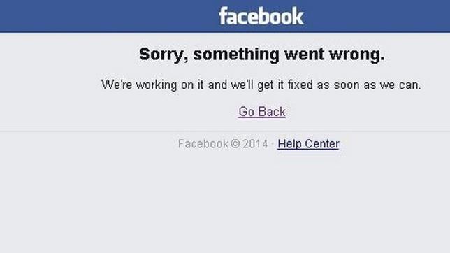 Facebook «se cae» durante un lapso de 20 minutos