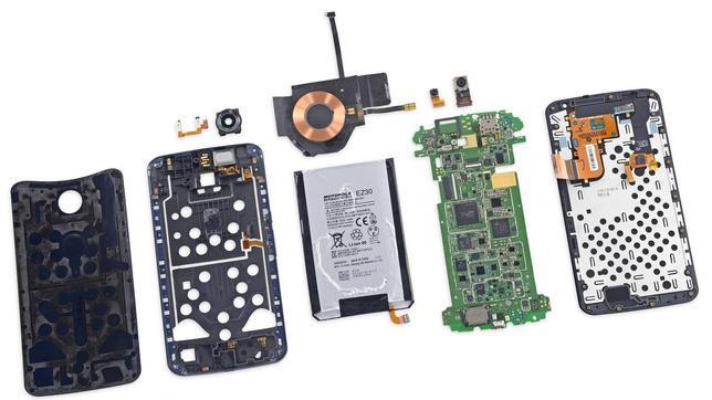 Las hermosas entrañas del Nexus 6 de Google