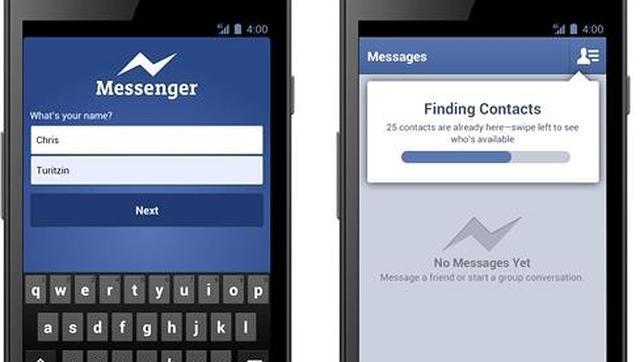El Messenger de Facebook no necesitará registro