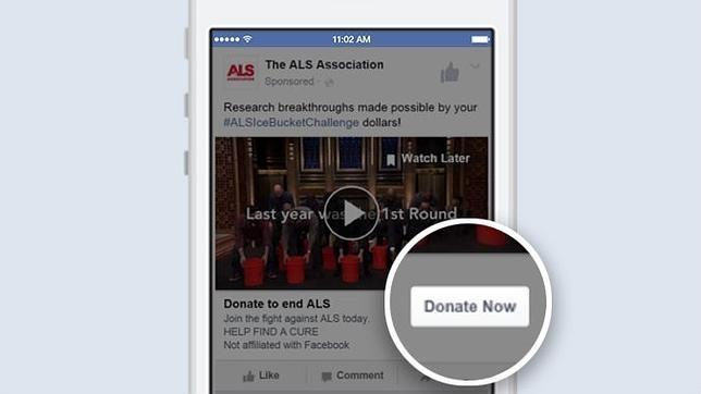 Facebook crea un botón para facilitar donaciones a las organizaciones sin ánimo de lucro